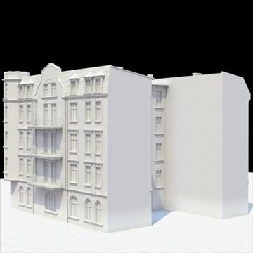 highly detailed historical tenement house. 3d model blend lwo lxo obj 101632