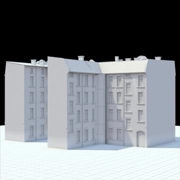 highly detailed historical tenement house. 3d model blend lwo lxo obj 101633