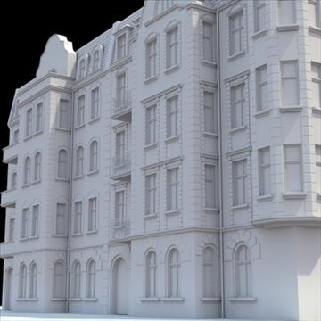 highly detailed historical tenement house. 3d model blend lwo lxo obj 101634