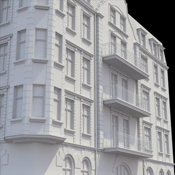 highly detailed historical tenement house. 3d model blend lwo lxo obj 101635