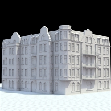 highly detailed historical tenement house. 3d model blend lwo lxo obj 102180
