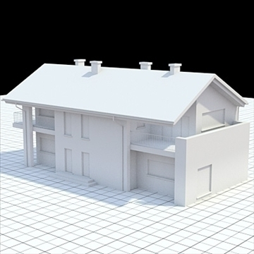 highly detailed single family house 14 3d model lwo lxo obj 104300