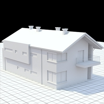 highly detailed single family house 14 3d model lwo lxo obj 104302