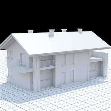 highly detailed single family house 14 3d model lwo lxo obj 104303