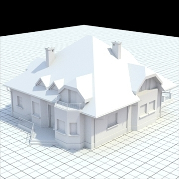 highly detailed single family house 16 3d model lwo lxo obj 105049