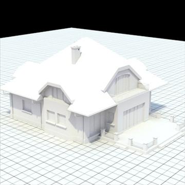 highly detailed single family house 16 3d model lwo lxo obj 105050