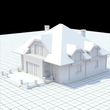 highly detailed single family house 16 3d model lwo lxo obj 105051