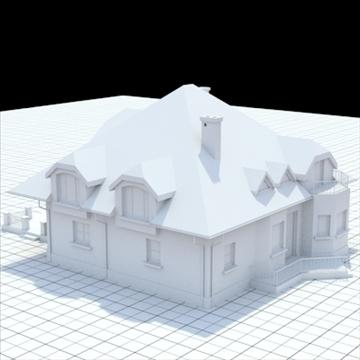 highly detailed single family house 16 3d model lwo lxo obj 105052
