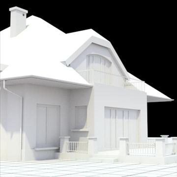 highly detailed single family house 16 3d model lwo lxo obj 105053