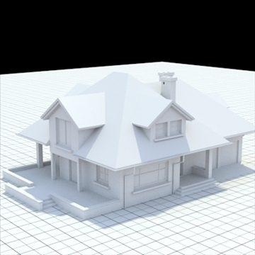 highly detailed single family house 17 3d model lwo lxo obj 105235