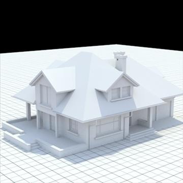 маш дэлгэрэнгүй нэг гэр бүлийн байшин 17 3d загвар lwo lxo obj 105235