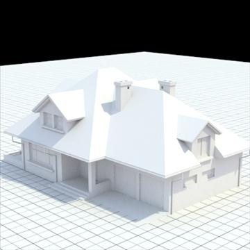 highly detailed single family house 17 3d model lwo lxo obj 105236