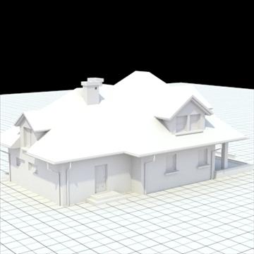 highly detailed single family house 17 3d model lwo lxo obj 105237