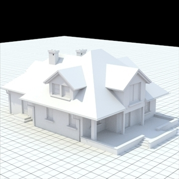 highly detailed single family house 17 3d model lwo lxo obj 105238