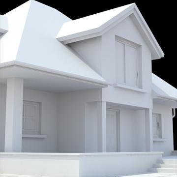highly detailed single family house 17 3d model lwo lxo obj 105239