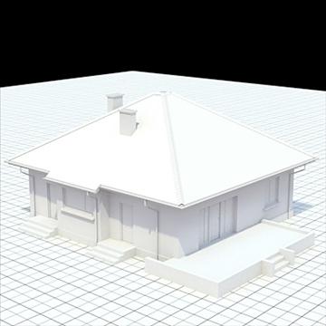 highly detailed single family house 18 3d model lwo lxo obj 105241