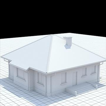 highly detailed single family house 18 3d model lwo lxo obj 105243