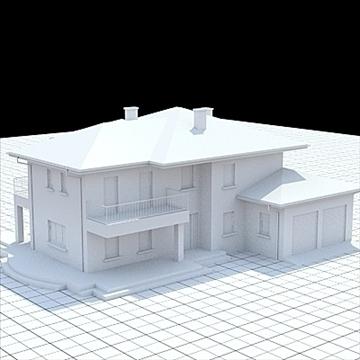 маш дэлгэрэнгүй нэг гэр бүлийн байшин 19 3d загвар lwo lxo obj 105368