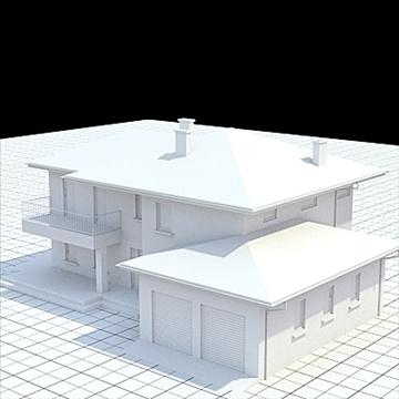 highly detailed single family house 19 3d model lwo lxo obj 105369