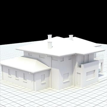 highly detailed single family house 19 3d model lwo lxo obj 105370