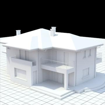 highly detailed single family house 19 3d model lwo lxo obj 105371
