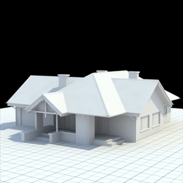highly detailed single family house 2 3d model blend lwo lxo obj 100245