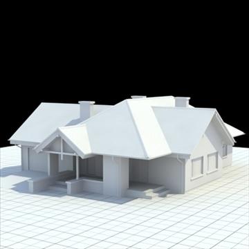 rumah keluarga yang sangat terperinci 2 3d model campuran lwo lxo obj 100245