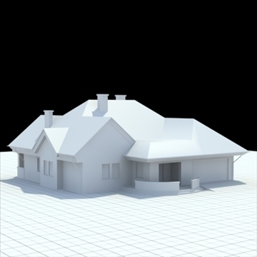 highly detailed single family house 3 3d model blend lwo lxo obj 100489
