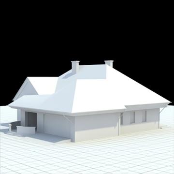 highly detailed single family house 3 3d model blend lwo lxo obj 100490