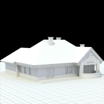 highly detailed single family house 3 3d model blend lwo lxo obj 100491