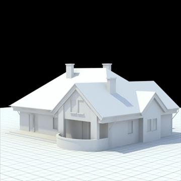 highly detailed single family house 3 3d model blend lwo lxo obj 100492