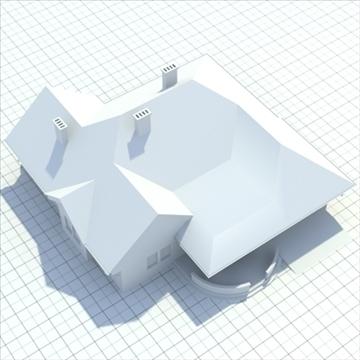 highly detailed single family house 3 3d model blend lwo lxo obj 100493