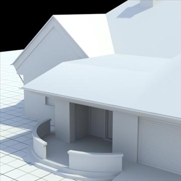 highly detailed single family house 3 3d model blend lwo lxo obj 100494