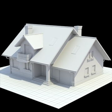 highly detailed single family house 3d model 3ds blend lwo lxo obj 111028
