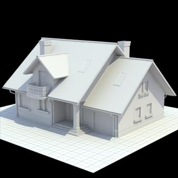 rumah keluarga yang sangat terperinci 3d model 3ds campuran lwo lxo obj 111028