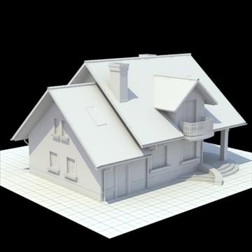 highly detailed single family house 3d model 3ds blend lwo lxo obj 111029