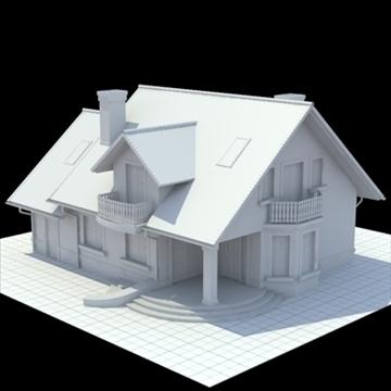 highly detailed single family house 3d model 3ds blend lwo lxo obj 111030