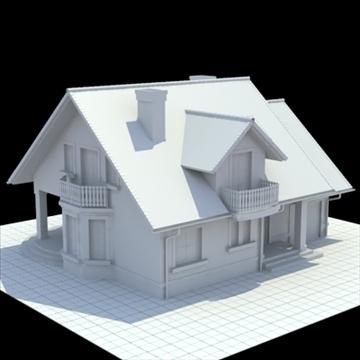 highly detailed single family house 3d model 3ds blend lwo lxo obj 111031