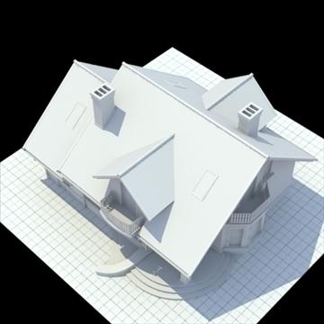 highly detailed single family house 3d model 3ds blend lwo lxo obj 111032