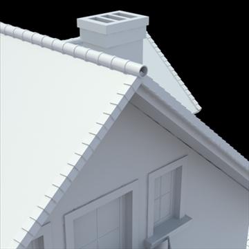 highly detailed single family house 3d model 3ds blend lwo lxo obj 111033