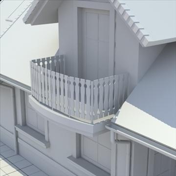 highly detailed single family house 3d model 3ds blend lwo lxo obj 111034