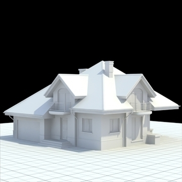 highly detailed single family house 4 3d model blend lwo lxo obj 100528