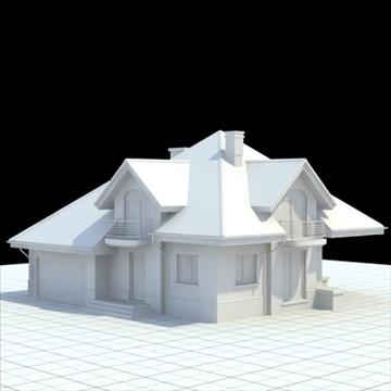 rumah keluarga yang sangat terperinci 4 3d model campuran lwo lxo obj 100528