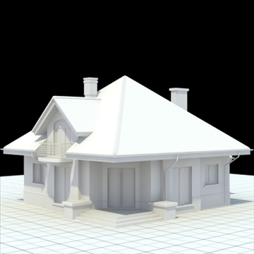 highly detailed single family house 4 3d model blend lwo lxo obj 100529