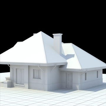 highly detailed single family house 4 3d model blend lwo lxo obj 100530