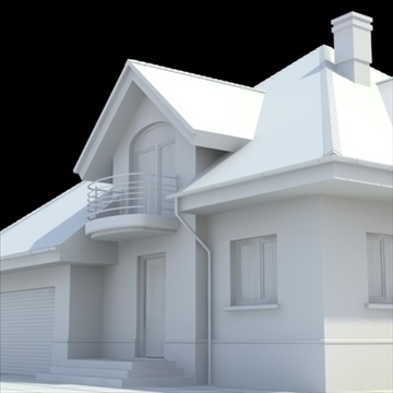 highly detailed single family house 4 3d model blend lwo lxo obj 100532