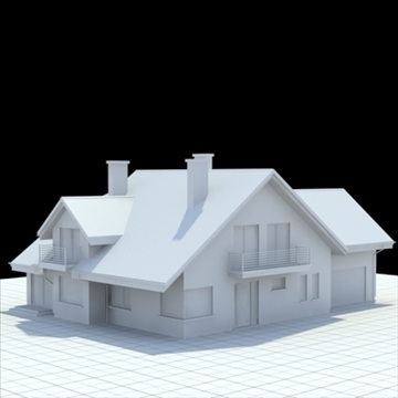 highly detailed single family house 5 3d model blend lwo lxo obj 100611