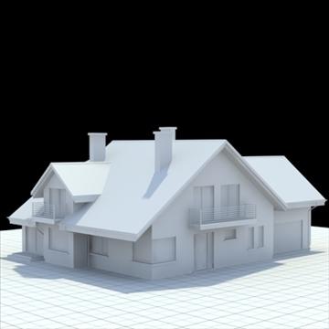 rumah keluarga yang sangat terperinci 5 3d model campuran lwo lxo obj 100611