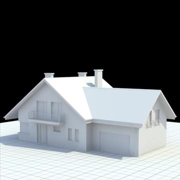 highly detailed single family house 5 3d model blend lwo lxo obj 100612