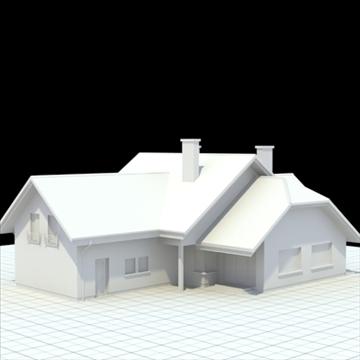 highly detailed single family house 5 3d model blend lwo lxo obj 100613